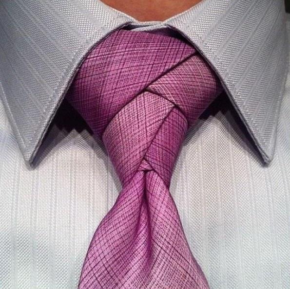 Как вязать классические узлы на галстуке