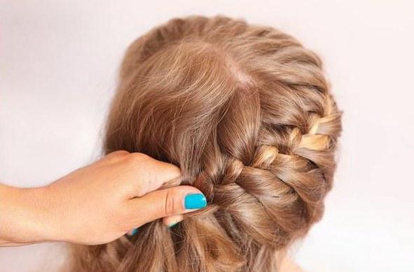 Коса колосок по-диагонали