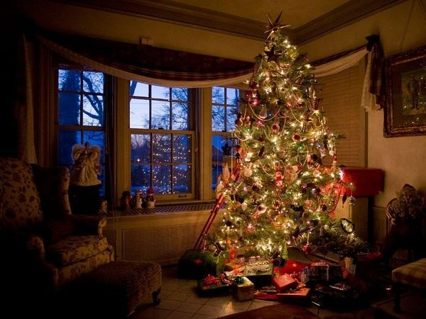 Где поставить ёлку на новый год