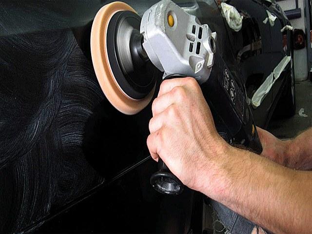 Механическая полировка кузова пастой