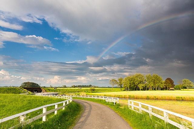 Деревенская дорога в Нидерландах