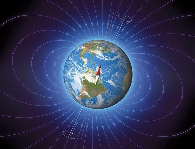 Силовые линии магнитного поля Земли