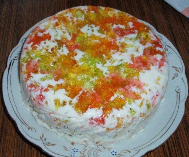 Торт «Самоцветы на снегу»