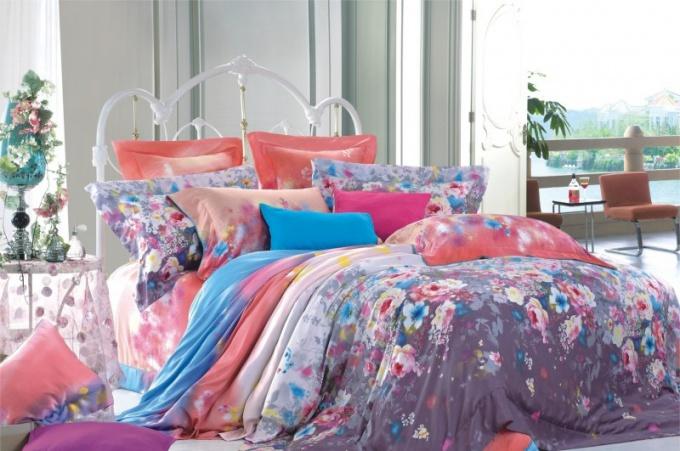 Ткань тенсел широко используется при создании постельного белья.