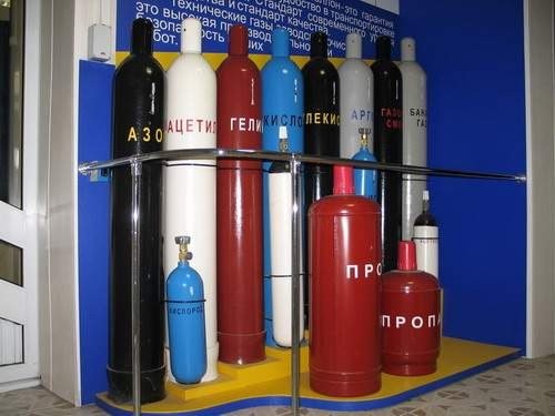 Gas cylinders recommended to fill a specialized gas stations