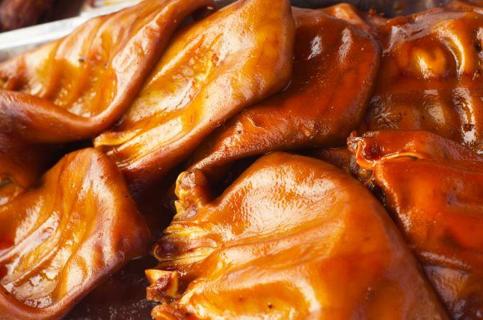 Вкусные блюда из свиных ушек