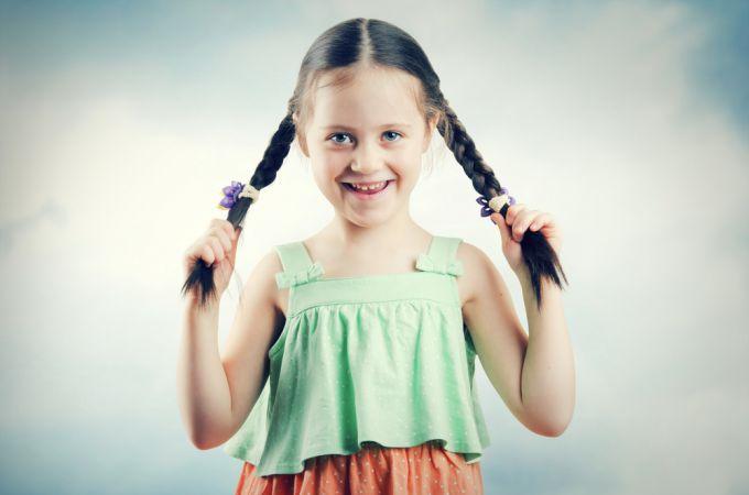 How to braid braids on children's hair