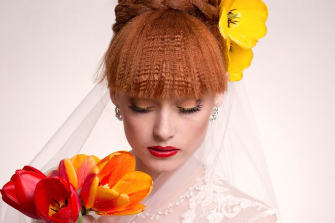 Features of makeup for the red-haired brides