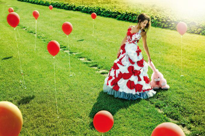 Цветное свадебное платье - смелое и оригинальное решение