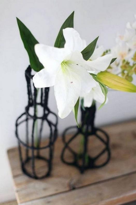 Как сделать декоративную вазу из проволоки