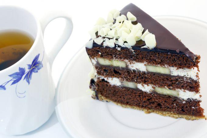 Необыкновенный вкус шоколадно-бананового торта