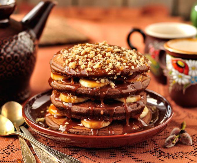 Рецепт вкусных шоколадных блинчиков