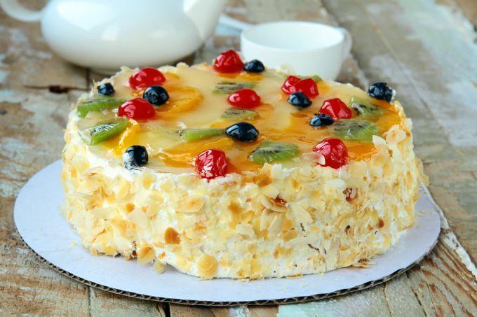 """Торт """"Фруктовый рай"""" - бисквитные торты"""