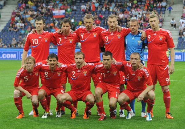 Euro 2016 qualifying group team of Russia on football