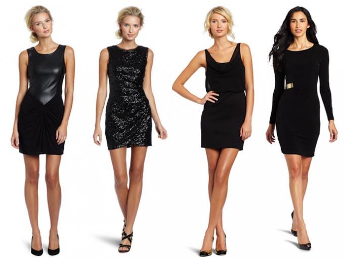 С чем носить черное платье без рукавов