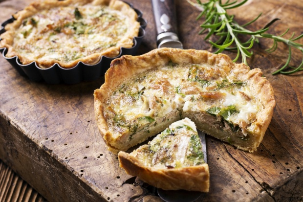 Как приготовить лоранский пирог с грибами