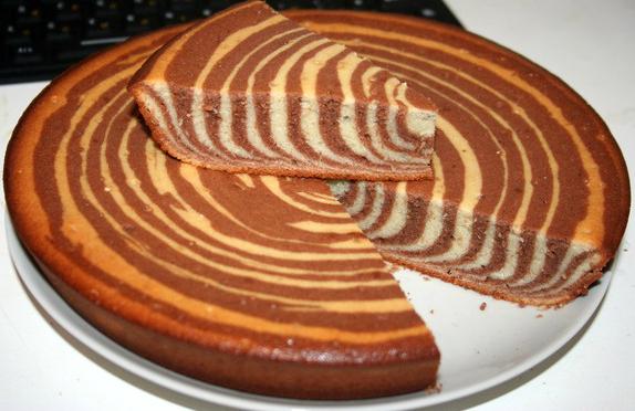 "Торт ""Зебра"" - рецепт приготовления"