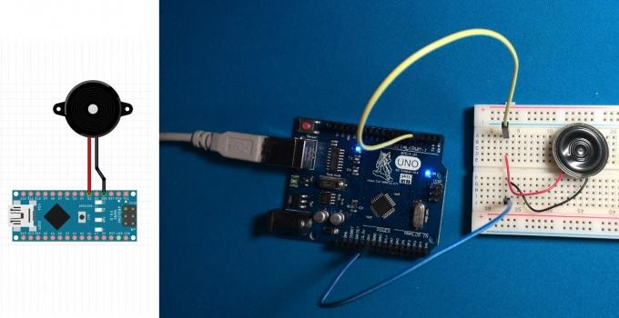 Подключение пьезопищалки к Arduino