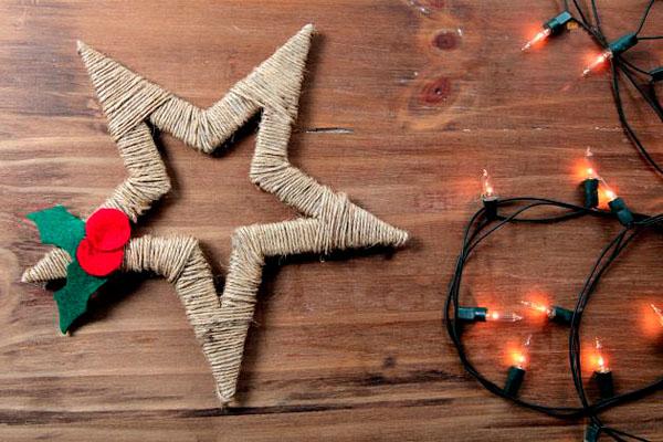 Как сделать большую новогоднюю игрушку на уличную елку