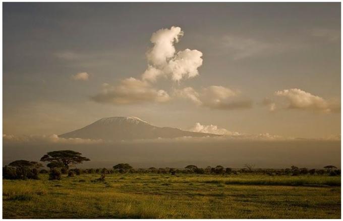 парк Амбосели - вид на Килиманджаро