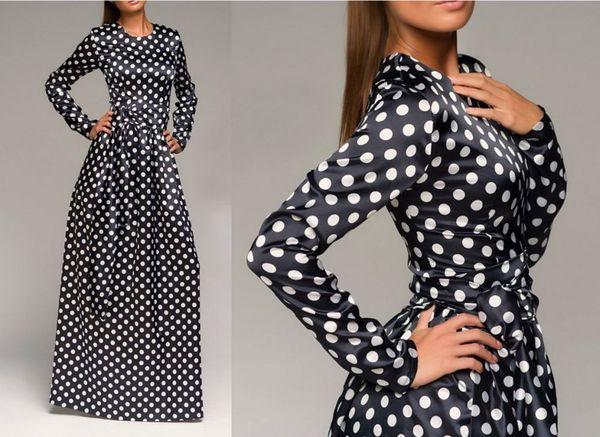 Платье в горошек: как выбрать и с чем носить