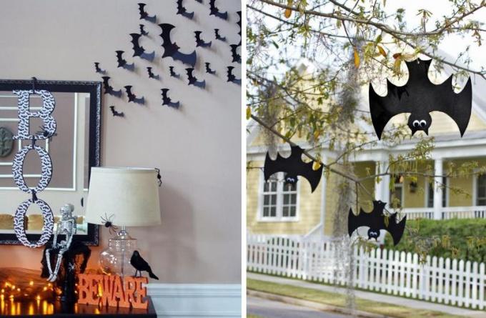 Летучие мыши на Хэллоуин своими руками за 5 минут
