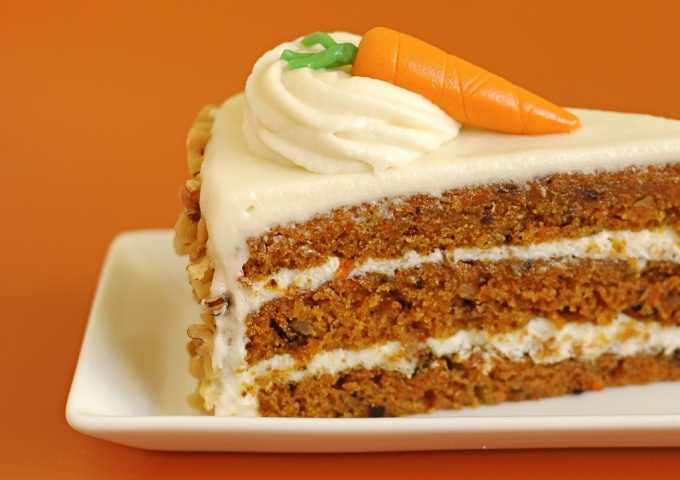 Вкусный, низкокалорийный, полезный морковный торт