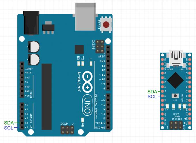 Интерфейс i c и arduino Электроника