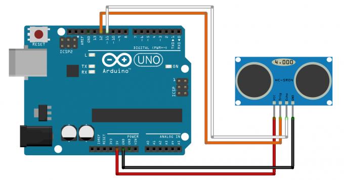 Подключение ультразвукового дальномера HC-SR04 к Arduino