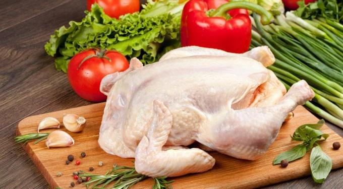 Разделка курицы