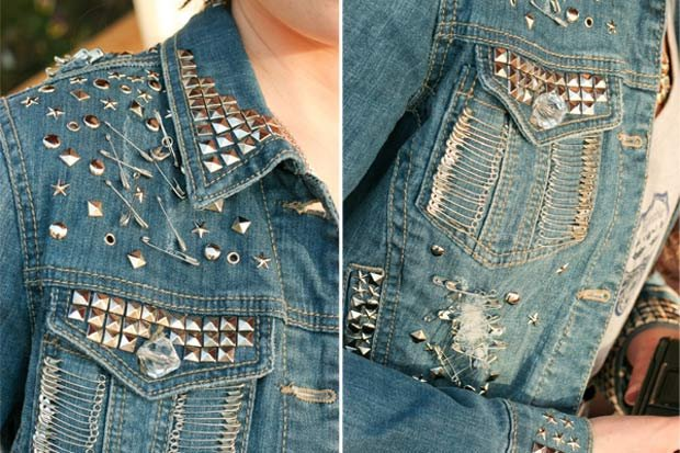 How to decorate a Jean jacket with his hands