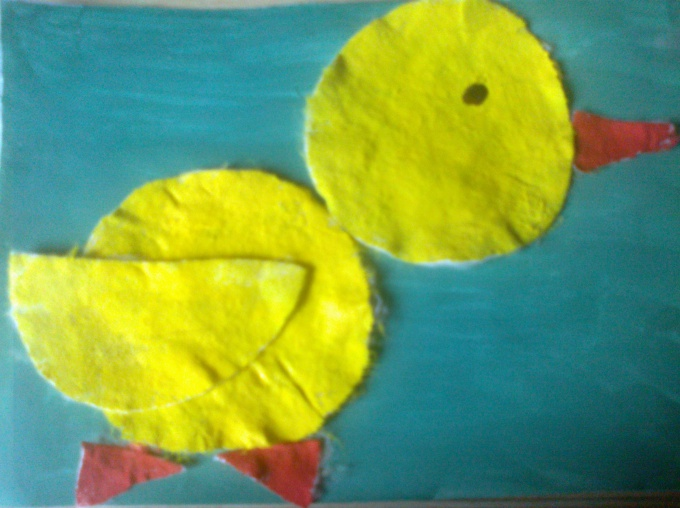 Поделка из ватных дисков в детский сад