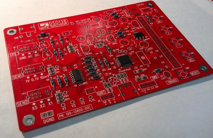 Пайка резисторов к плате DSO138
