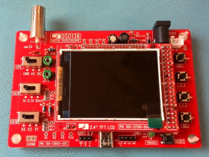 Plug-in LCD display of the oscilloscope DSO138