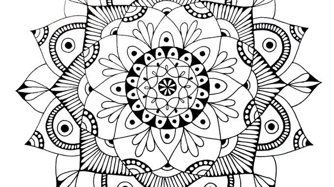 mandala with their hands