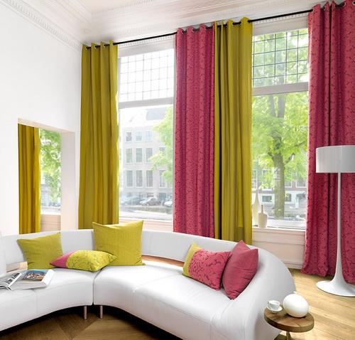 Как сшить две шторы разного цвета вместе