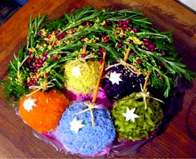 вкусные и новые рецепты салатов на новый год