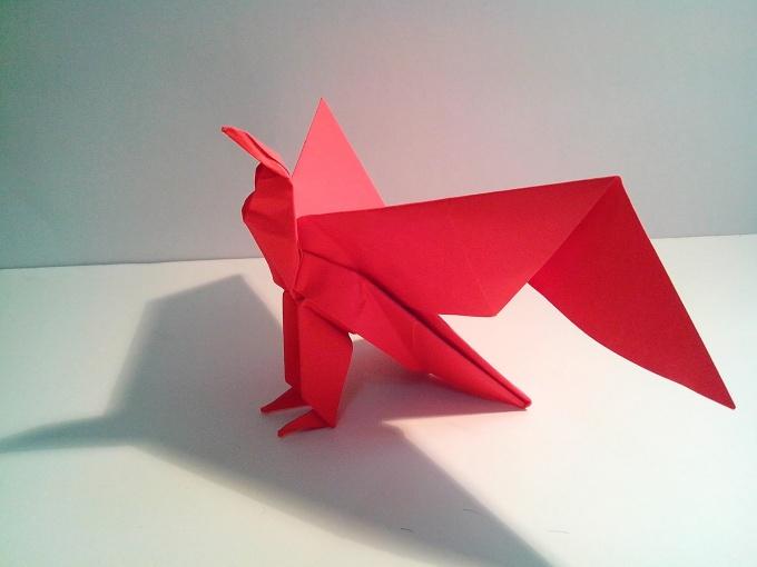 Как сделать орла из бумаги