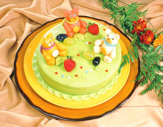 Детский торт «Медвежата на поляне»