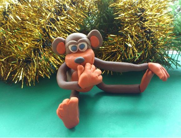 Как сделать обезьянку к Новому году