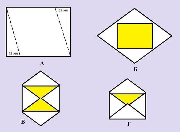 Как сделать конверт из бумаги а4 своими руками поэтапно