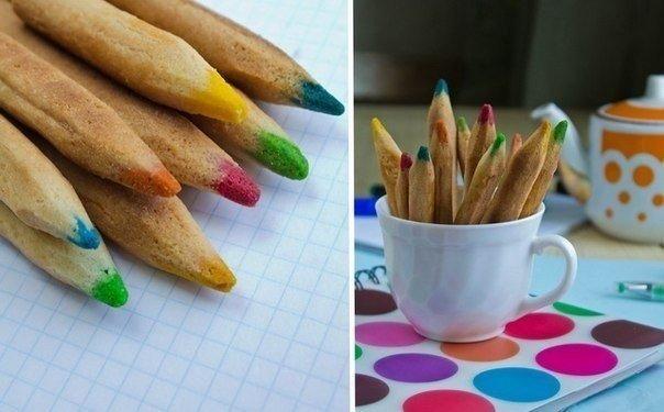 Как сделать съедобные цветные карандаши