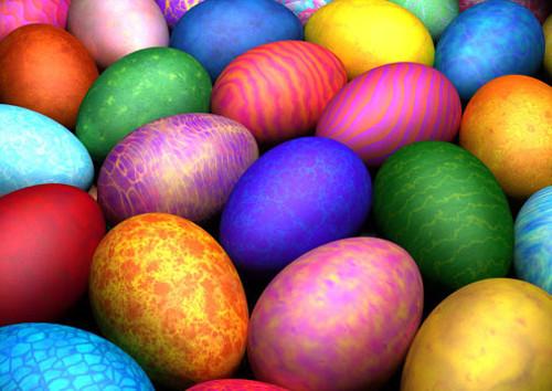 Яйца на Пасху могут быть всех цветов радуги