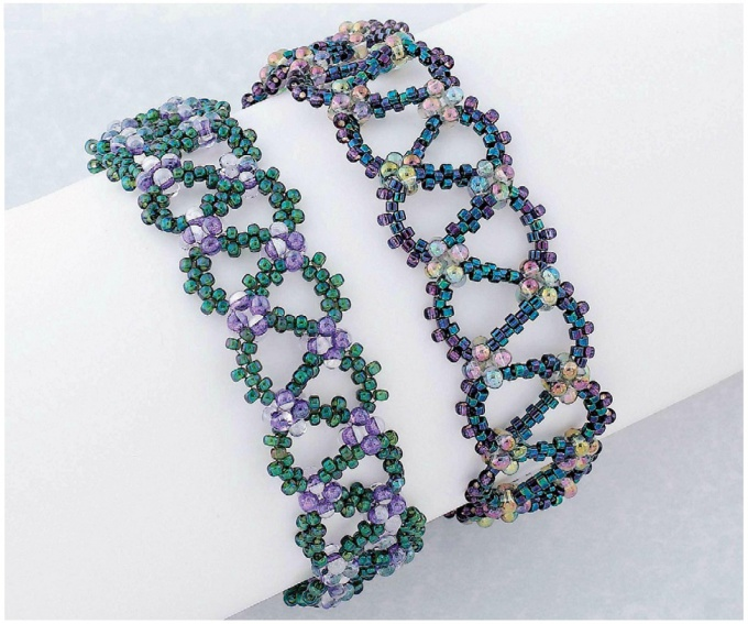 "How to weave a bracelet ""G"" bead"