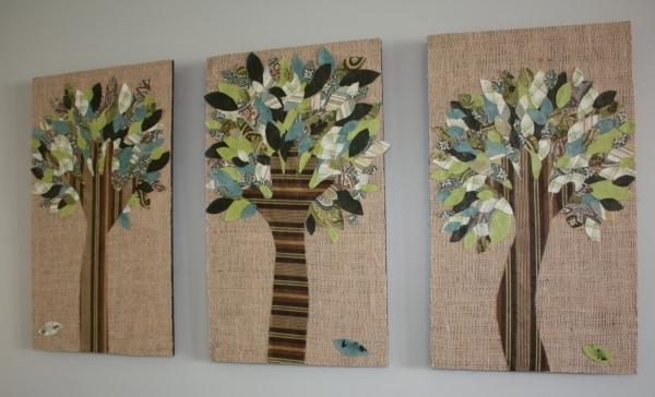 Как сделать панно на стену из ткани
