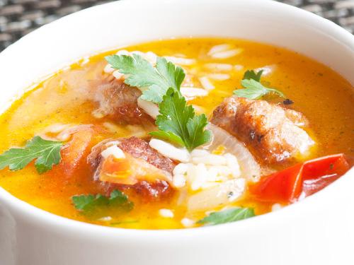 Куриный суп с картошкой и рисом