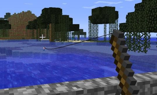 Как сделать удочку и ловить рыбу в Майнкрафте