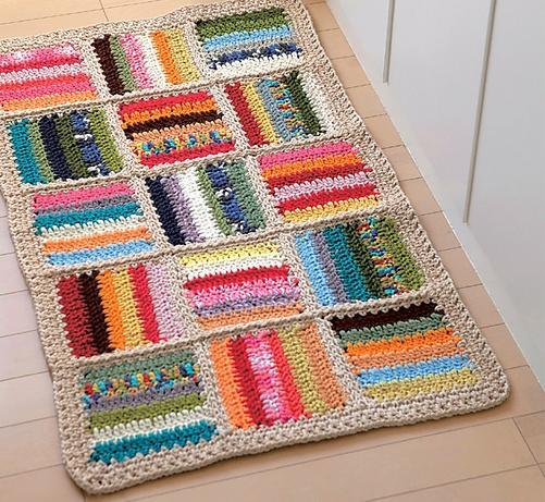 Вязаный коврик своими руками – ярко и просто