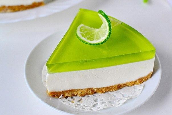 """Как приготовить желейный торт без выпечки """"Свежесть лайма"""""""