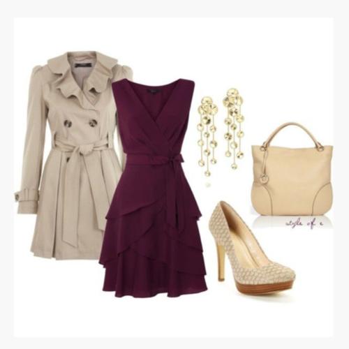 Сиреневое платье с акссесуарами